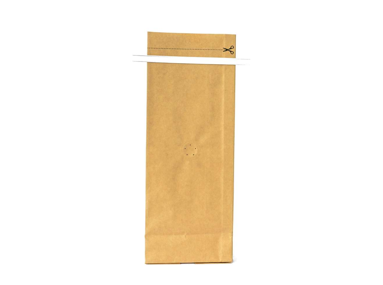 Kraft paper bag for roasted coffee beans