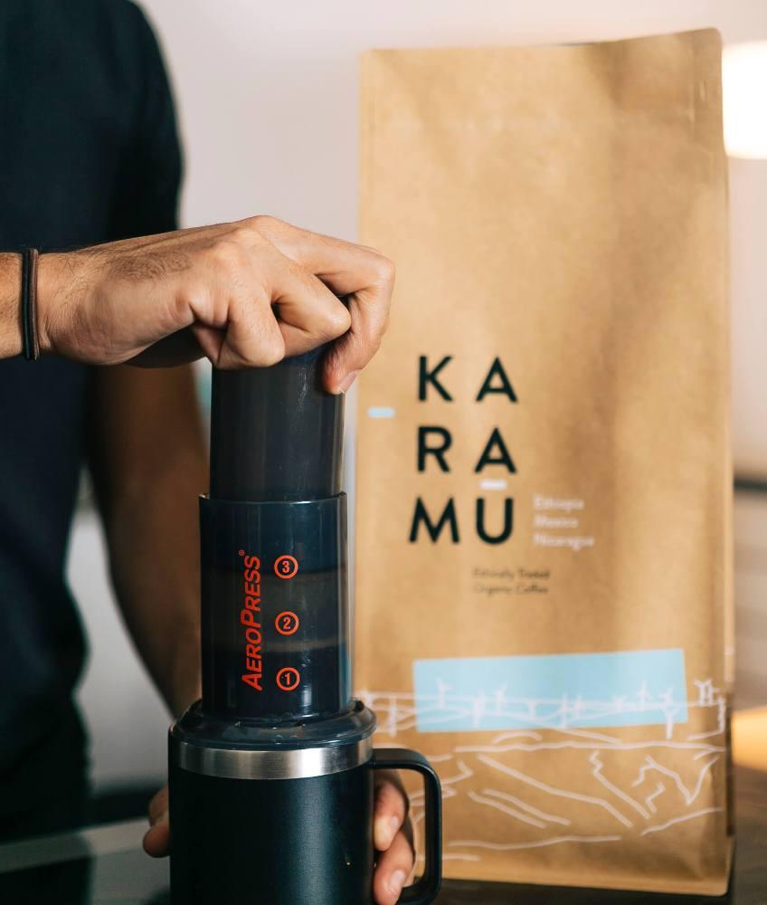 MTPak Coffee bag with Aeropress