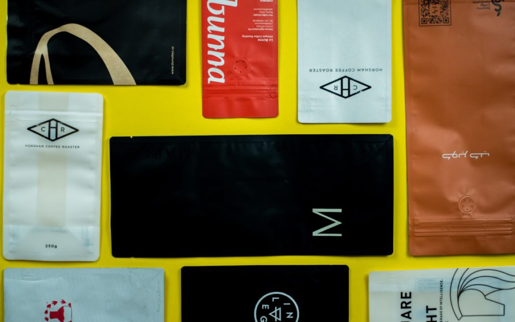 range of coffee packaging
