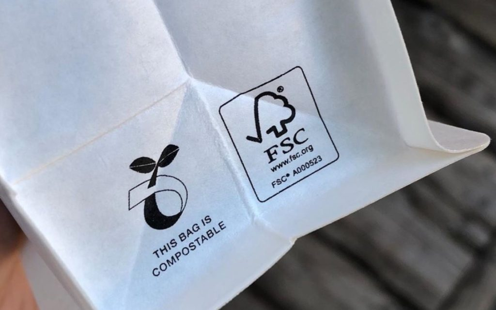 sustainability certification coffee bag
