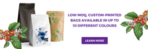 Order our low MOQ custom printed coffee bags