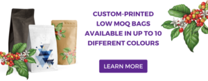 Custom-printed low MOQ coffee bags
