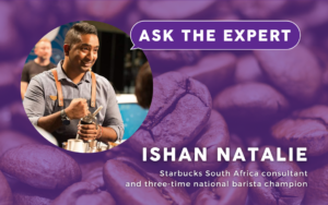 Put your questions about coffee brewing, packaging, design, and more to Ishan Natalie.